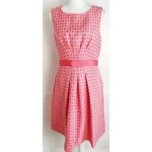 Tahari ASL • NWOT Pink and White Pattern Dress